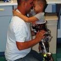 Bryce hugging his dad