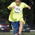 Danielle doing the long jump