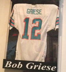 Bob Griese Jersey Display